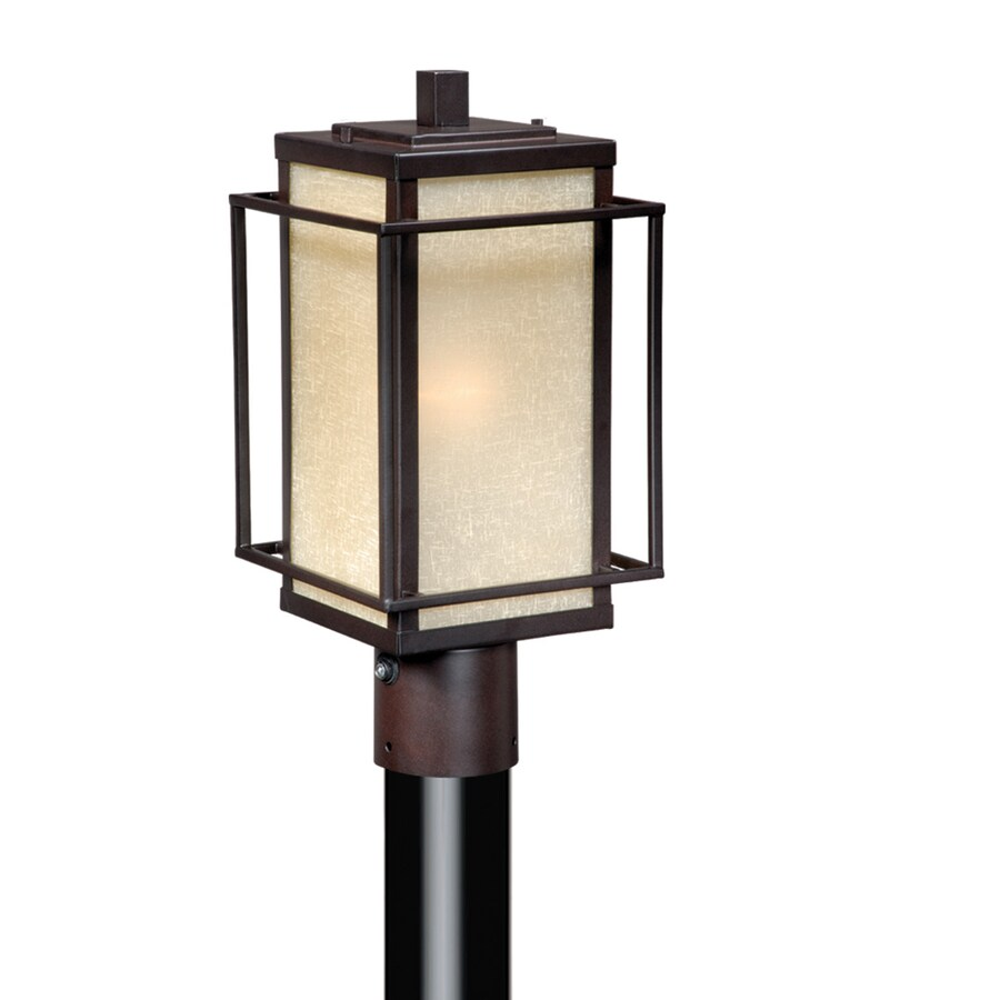 Cascadia Lighting Robie 15-in H Espresso Bronze Post Light