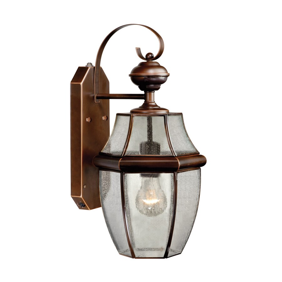 Shop Cascadia Lighting 18 5 In H Burnished Bronze Motion Activated Outdoor Wall Light At