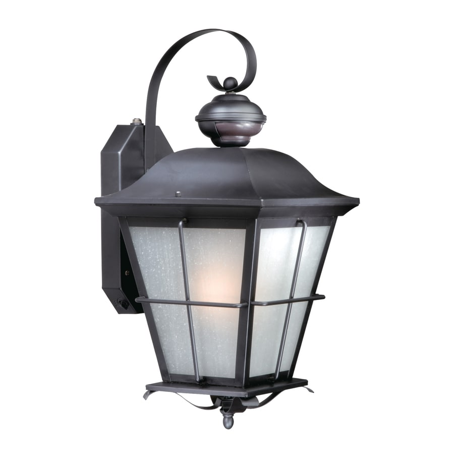 Cascadia Lighting New Haven 16-in H Oil-Rubbed Bronze Motion Activated Outdoor Wall Light