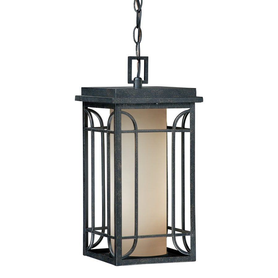 Cascadia Lighting Newport 16.625-in Gold Stone Hardwired Outdoor Pendant Light
