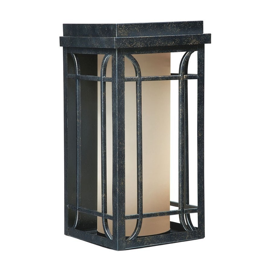 Cascadia Lighting Newport 11.75-in H Gold Stone Outdoor Wall Light