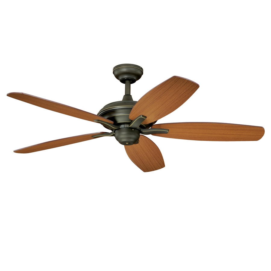 Cascadia Lighting Valencia 52-in Oil Rubbed Bronze Downrod or Close Mount Ceiling Fan (5-Blade)