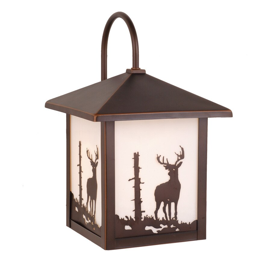 Cascadia Lighting Yellowstone Bryce 12.5-in H Burnished Bronze Outdoor Wall Light