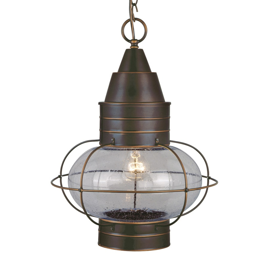 Shop cascadia lighting chatham 17 5 in burnished bronze Outdoor pendant lighting