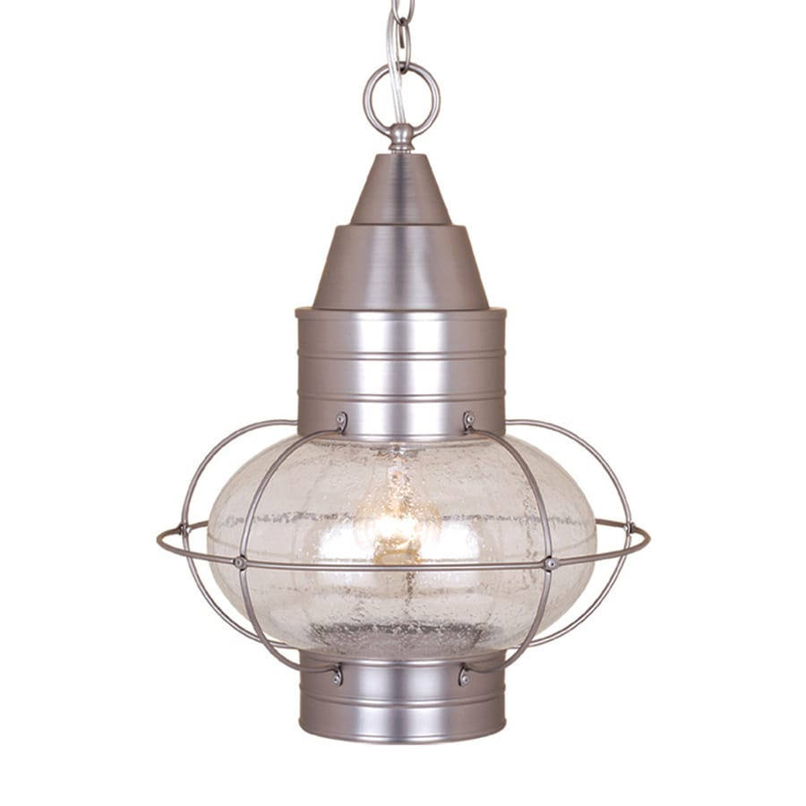 Cascadia Lighting Chatham 17.5-in Brushed Nickel Hardwired Outdoor Pendant Light