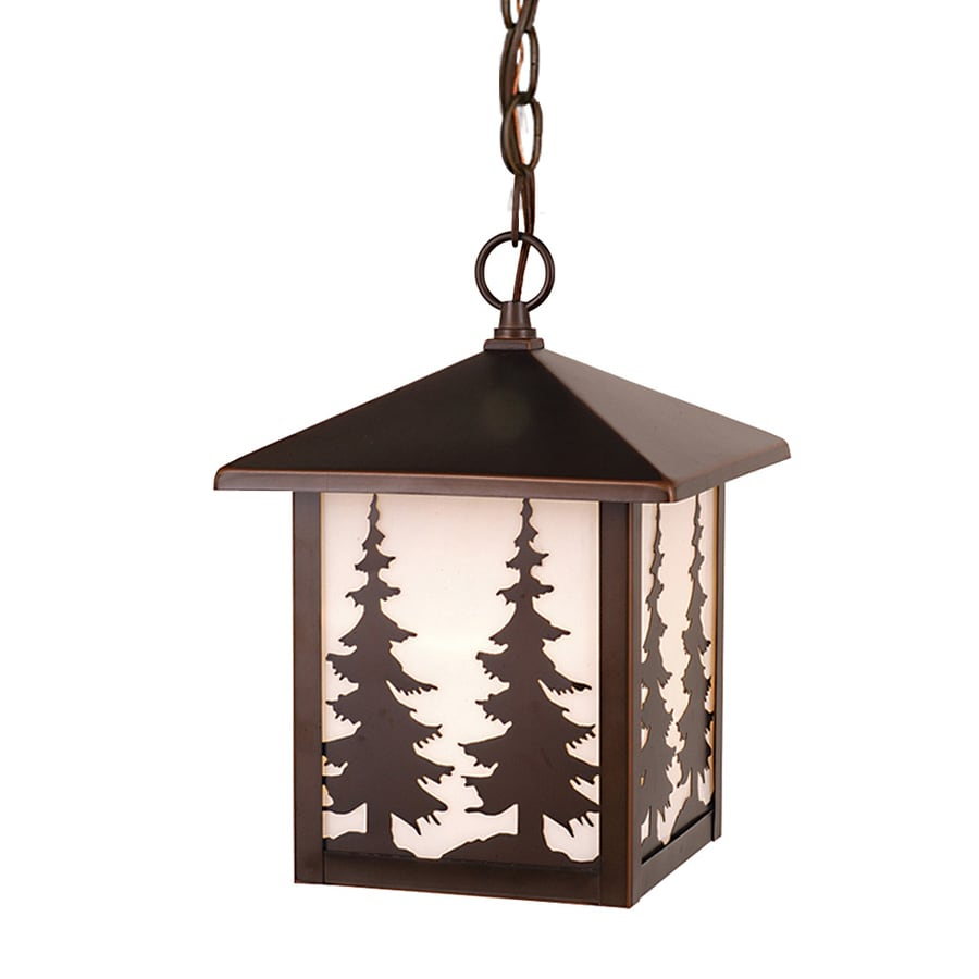 Cascadia Lighting Yosemite 11-in Burnished Bronze Hardwired Outdoor Pendant Light