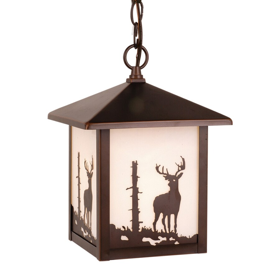 Cascadia Lighting Bryce 11-in Burnished Bronze Hardwired Outdoor Pendant Light