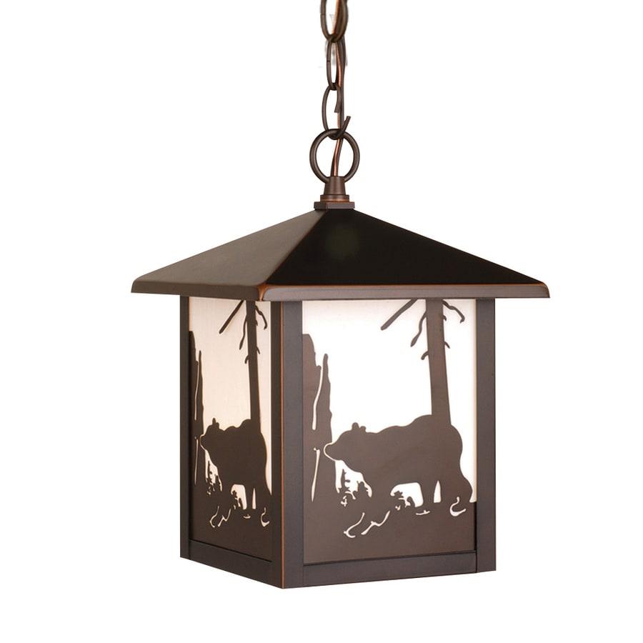Cascadia Lighting Bozeman 11-in Burnished Bronze Hardwired Outdoor Pendant Light