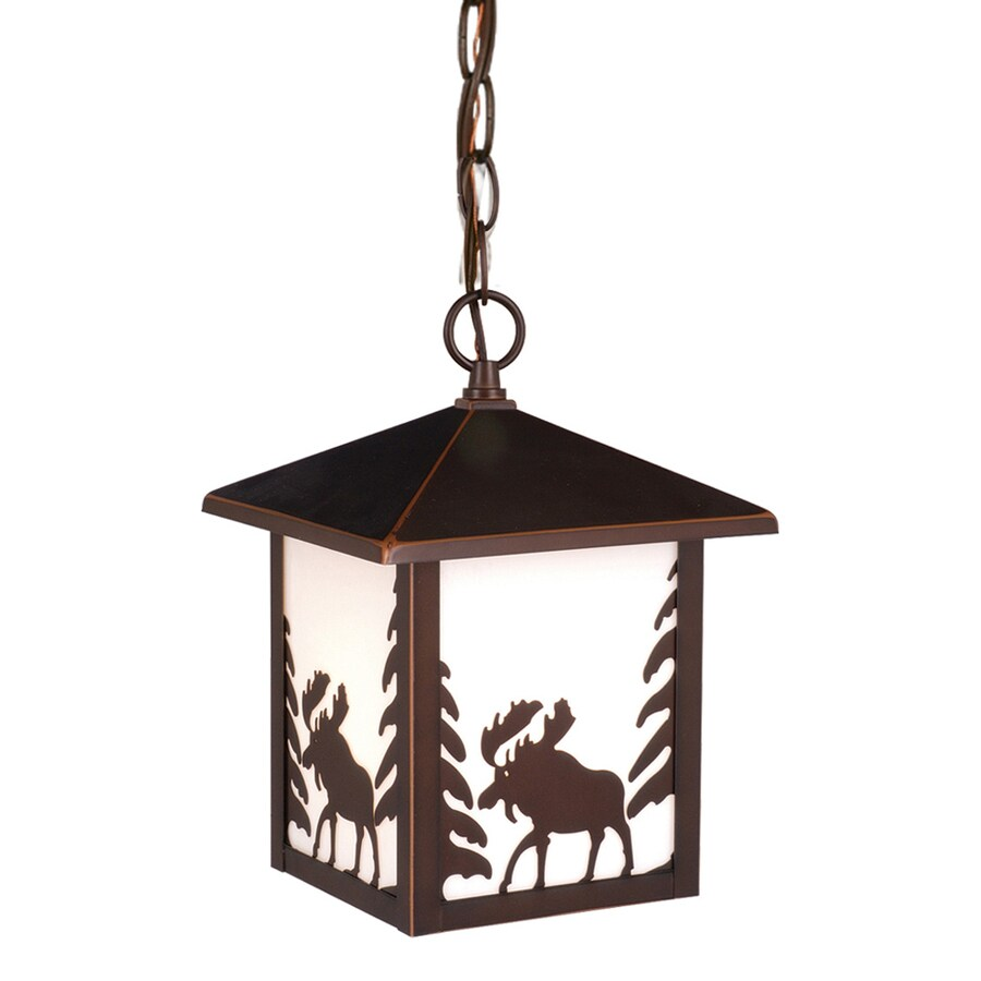 Cascadia Lighting Yellowstone 11-in Burnished Bronze Hardwired Outdoor Pendant Light