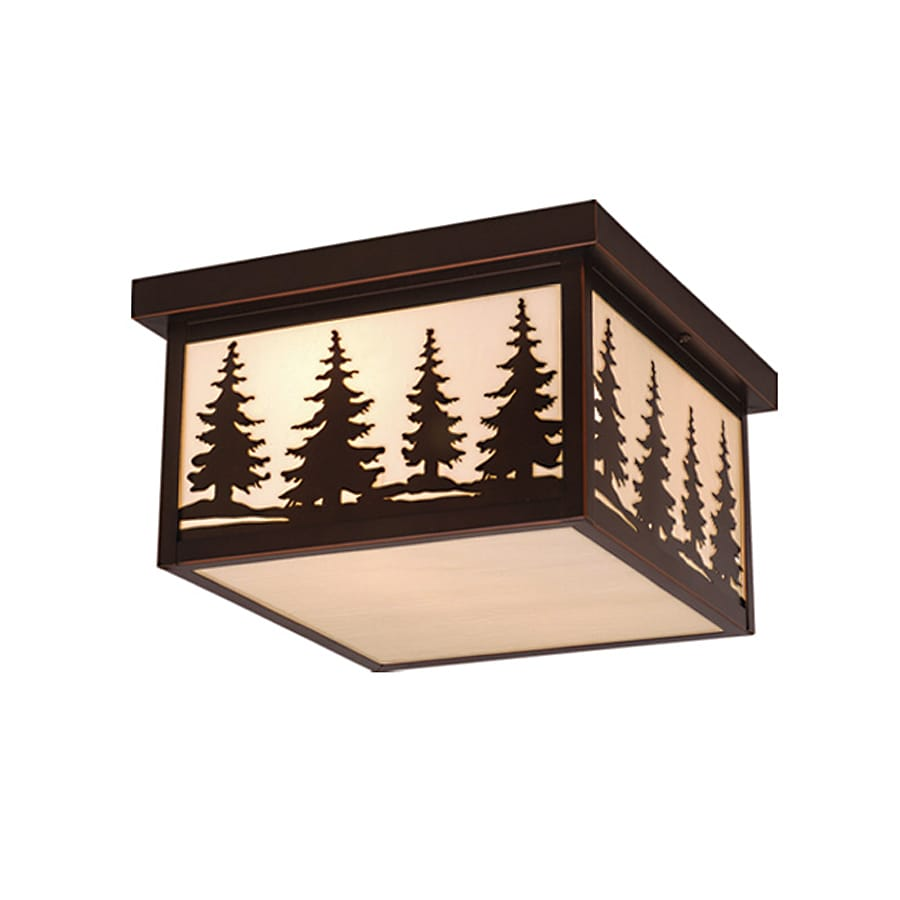 Cascadia Lighting Yosemite 11.5-in W Burnished Bronze Outdoor Flush-Mount Light
