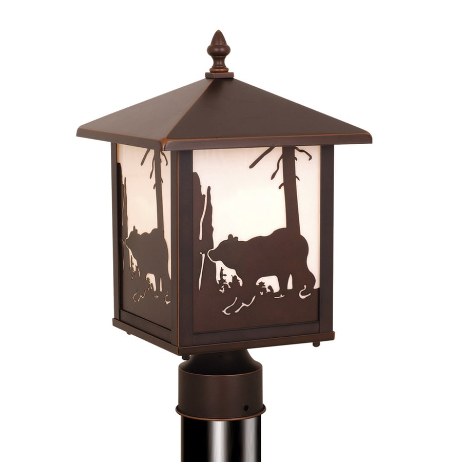 Cascadia Lighting Bozeman 14-in H Burnished Bronze Post Light