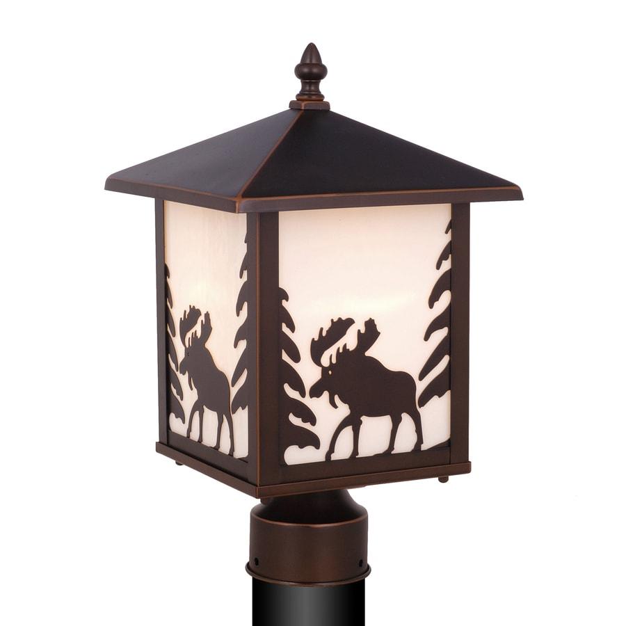 Cascadia Lighting Yellowstone 14-in H Burnished Bronze Post Light