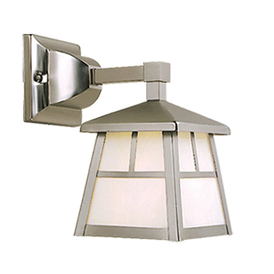 Shop Cascadia Lighting Mission 10 In H Stainless Steel