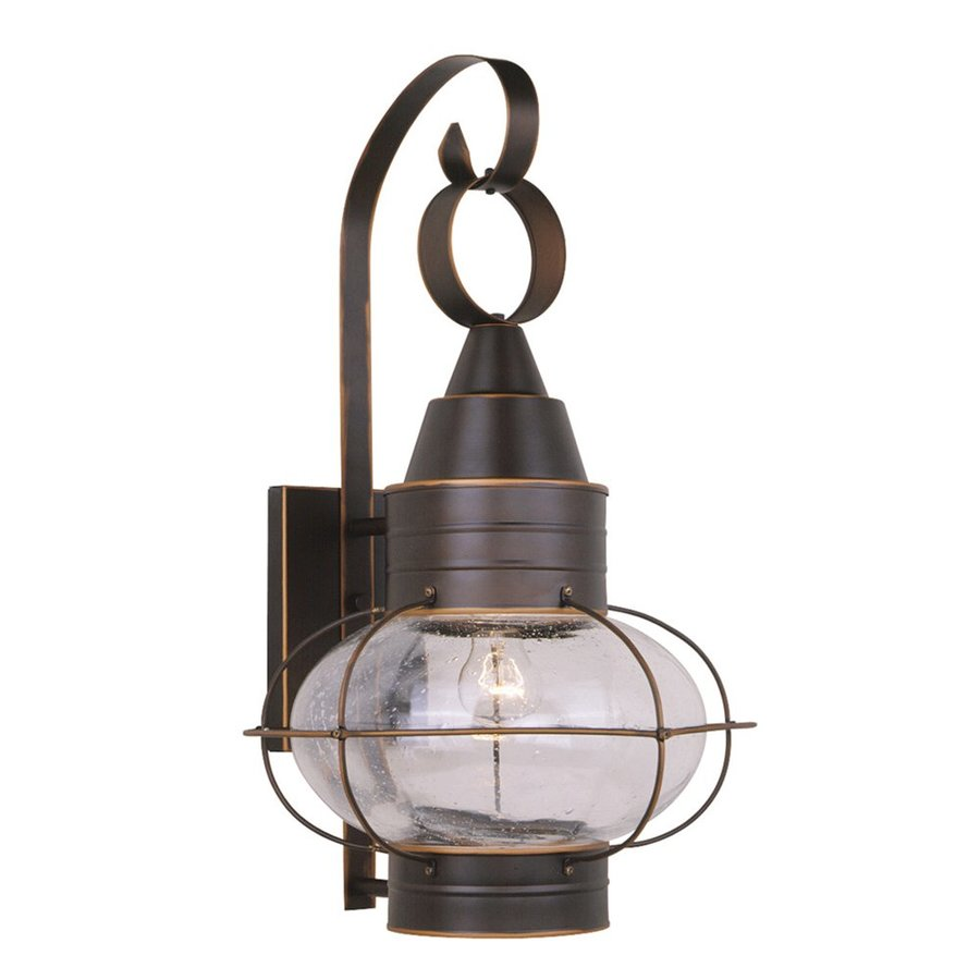 Cascadia Lighting Onion Nautical 22-in H Burnished Bronze Outdoor Wall Light