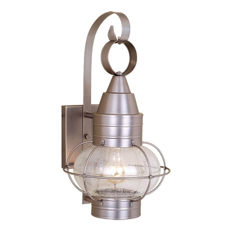 Cascadia Lighting Chatham Nautical 13.5-in H Brushed Nickel Outdoor Wall Light