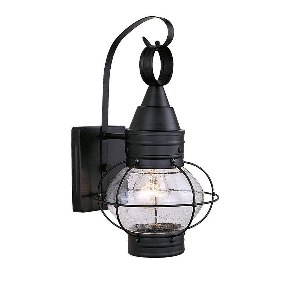 Cascadia Lighting Chatham Nautical 14-in H Textured Black Outdoor Wall Light