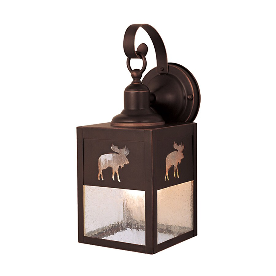 Cascadia Lighting Yellowstone 13-in H Burnished Bronze Outdoor Wall Light