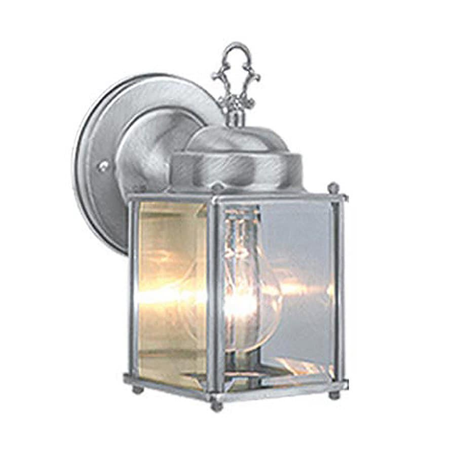 Cascadia Lighting 8-in H Brushed Nickel Outdoor Wall Light