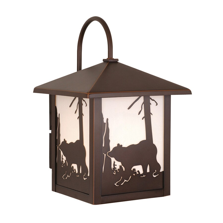 Cascadia Lighting Bozeman 12.5-in H Burnished Bronze Outdoor Wall Light