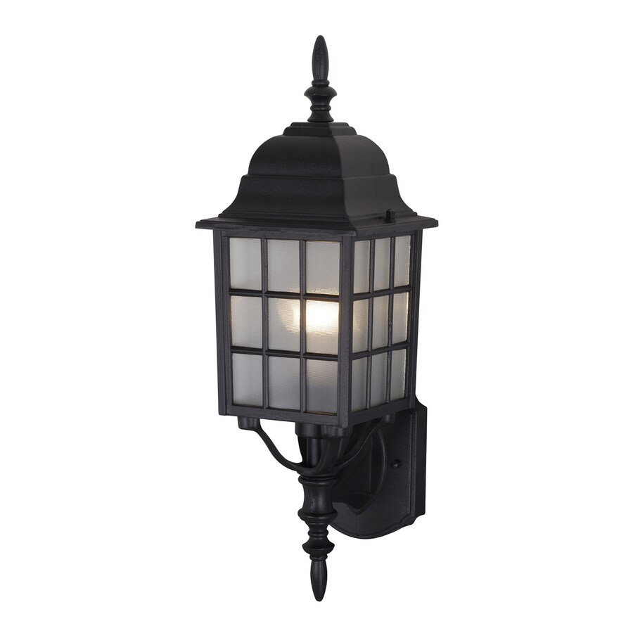 Cascadia Lighting Vista 19-in H Textured Black Outdoor Wall Light