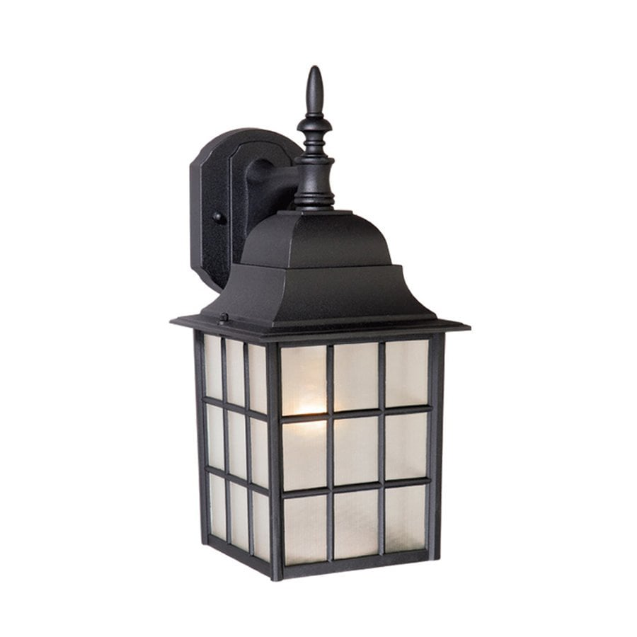 Cascadia Lighting Vista 14.5-in H Textured Black Outdoor Wall Light