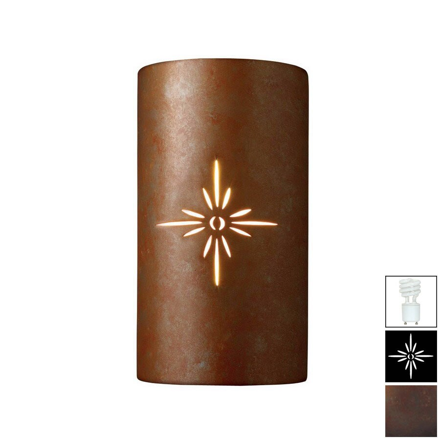 Shop Cascadia Lighting Sun Dagger 13-3/4-in Rust Patina Outdoor Wall ...