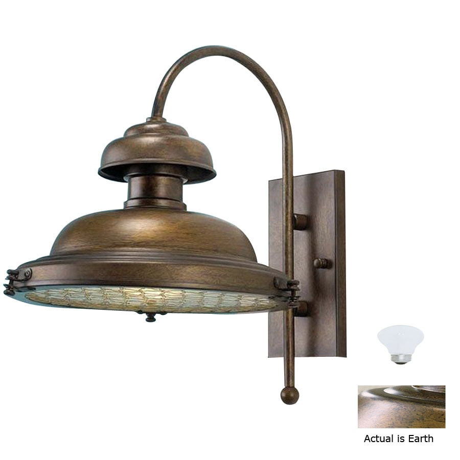 Lustrarte Escotilha 16.14-in H Earth Outdoor Wall Light