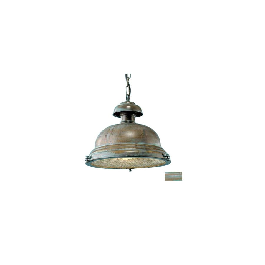 Lustrarte Escotilha 12.2-in H Green Outdoor Pendant Light