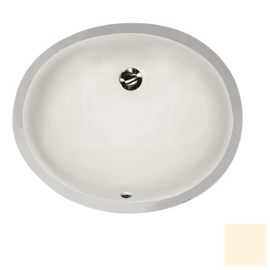 Nantucket Bisque Undermount Oval Bathroom Sink with Overflow