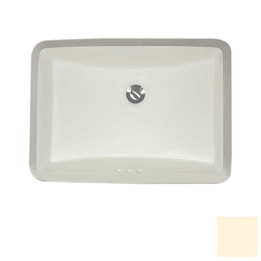 Exceptionnel Nantucket Bisque Undermount Rectangular Bathroom Sink With Overflow