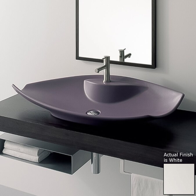 Nameeks Scarabeo White Vessel Bathroom Sink In The Sinks Department At Lowes Com