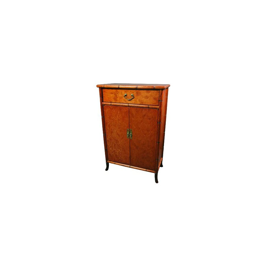Oriental Furniture Lacquer Matte Lacquer Office Cabinet