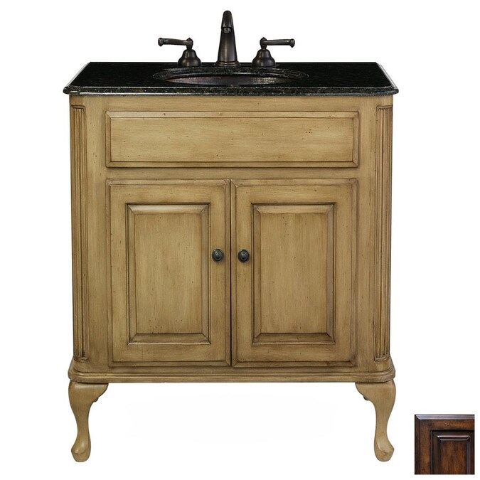 Cole Company Antique Brown Custom Traditional Bathroom Vanity In The Bathroom Vanities Without Tops Department At Lowes Com