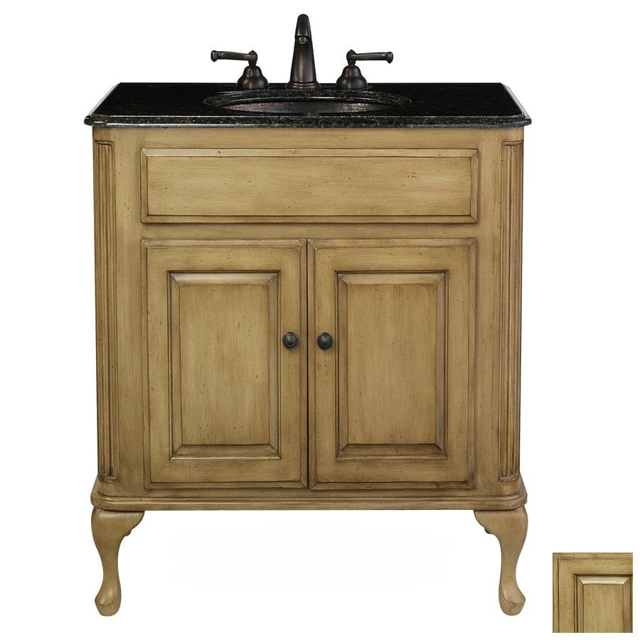 Cole Company Parchment Custom Traditional Bathroom Vanity