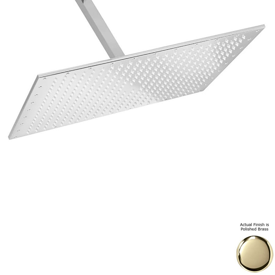 Westbrass 2.2-GPM (8.3-LPM) Polished Brass Rain Showerhead