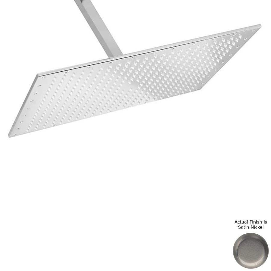 Westbrass 2.2-GPM (8.3-LPM) Stain and Brushed Nickel Rain Showerhead