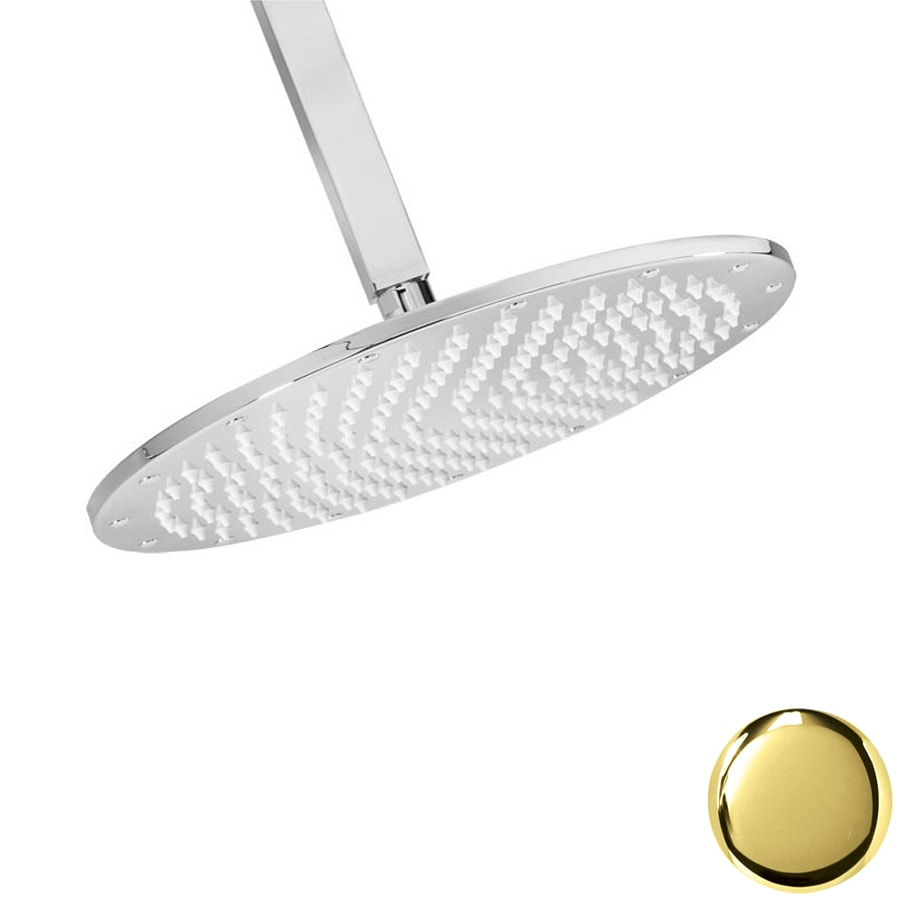 Westbrass 11.75-in 2.2-GPM (8.3-LPM) PVD Polished Brass Rain Showerhead