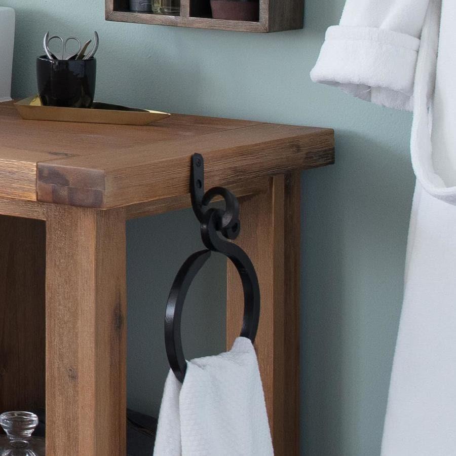 Artesano Iron Works Matte-Black Wall-Mount Towel Ring