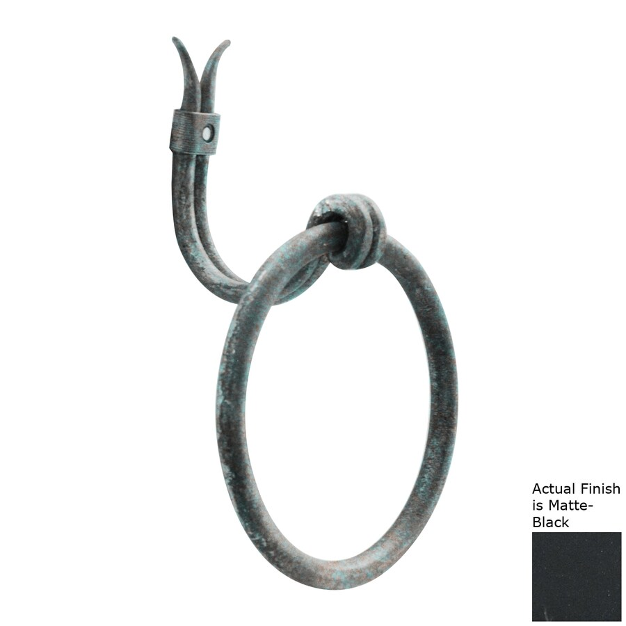 Artesano Iron Works Matte Black Wall Mount Towel Ring