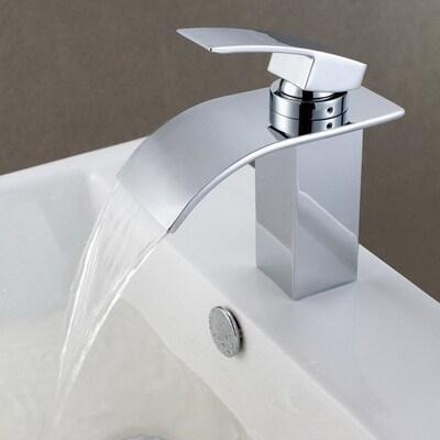 Chrome 1 Handle Single Hole Bathroom Faucet