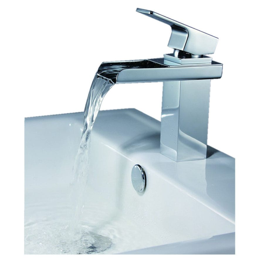 Shop Sumerain Chrome 1-Handle Single Hole Bathroom Faucet at Lowes.com