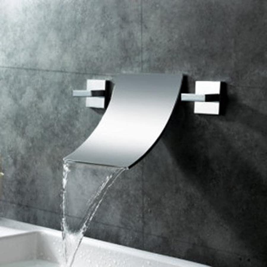 Shop Sumerain Waterfall Chrome 2-Handle Widespread Bathroom Faucet ...