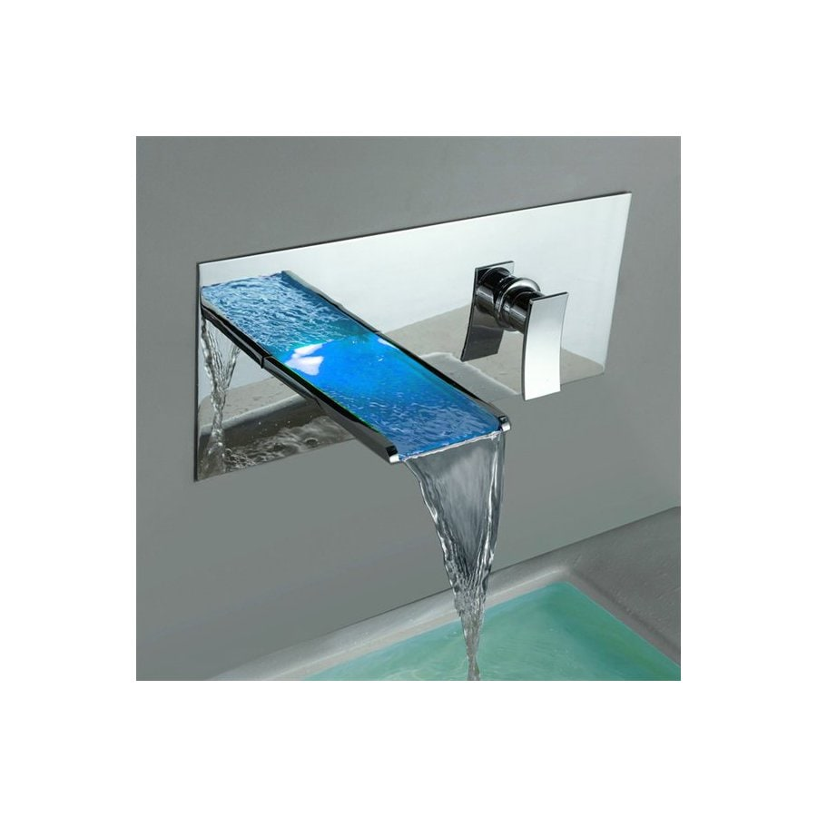 Sumerain Led Thermal Chrome 1-Handle Bathroom Sink Faucet