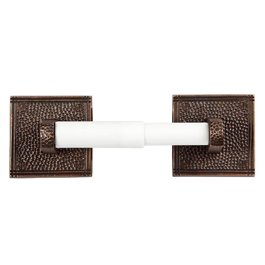 The Copper Factory Artisan Antique Copper Surface Mount Spring-Loaded Toilet Paper Holder
