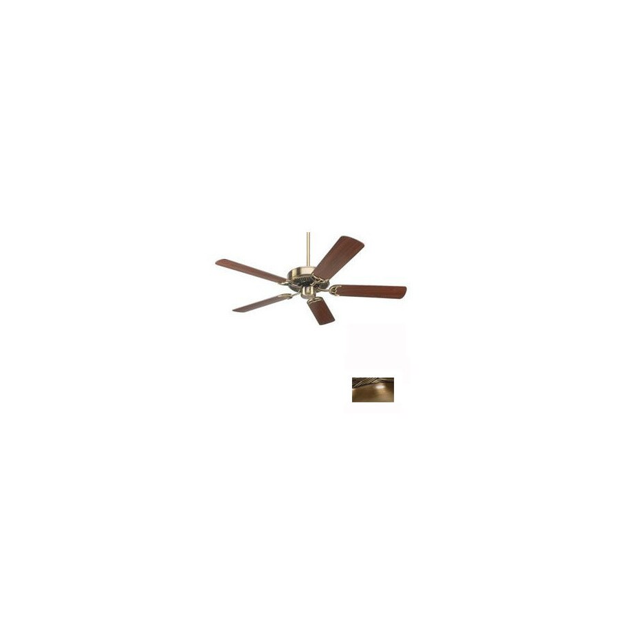 Nicor Lighting 52-in Masterbuilder Antique Brass Ceiling Fan ENERGY STAR