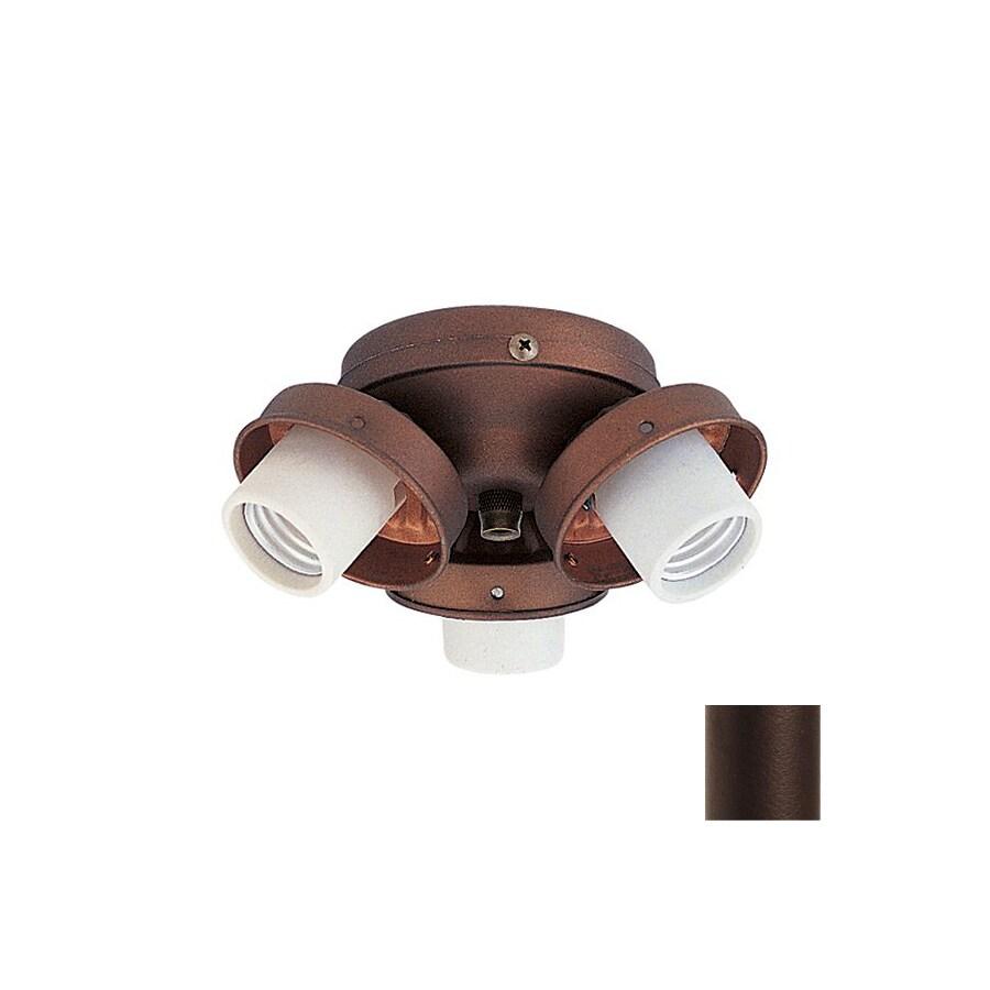 Nicor Lighting 3-Light Bronze Ceiling Fan Light Kit
