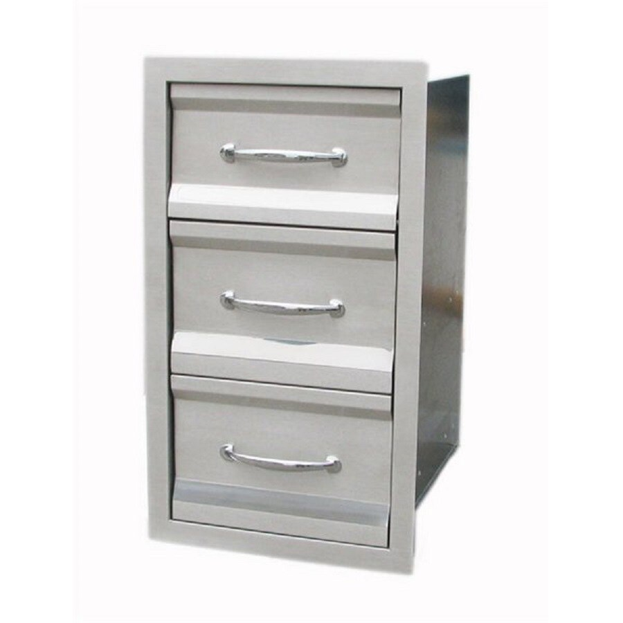 Sunstone Built-In Grill Cabinet Triple Doors