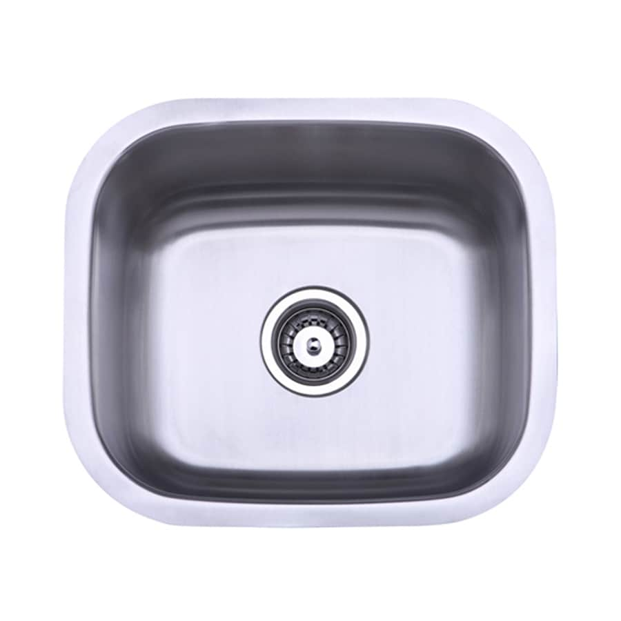 Elements of Design Gourmetier 17.94-in x 15.63-in Brushed Nickel Single-Basin-Basin Stainless Steel Undermount (Customizable)-Hole Residential Kitchen Sink