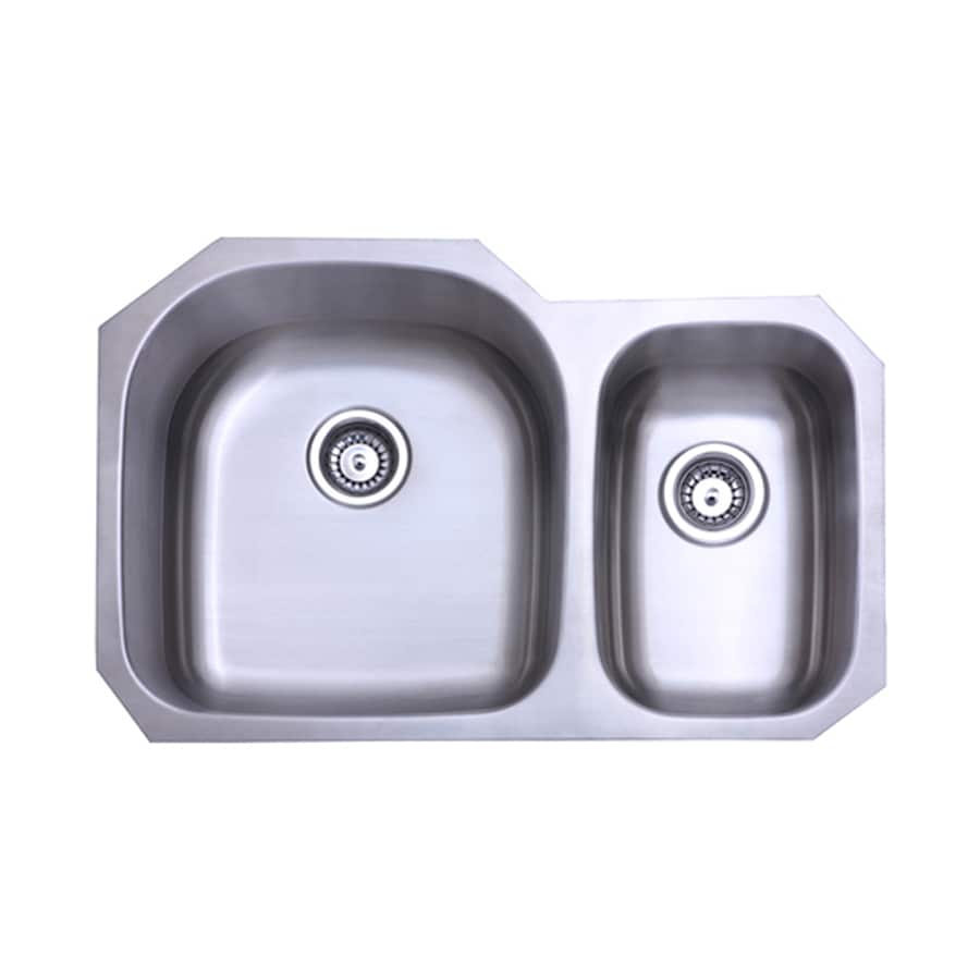 Elements of Design Centurion 31.5-in x 20.69-in Brushed Nickel Single-Basin-Basin Stainless Steel Undermount (Customizable)-Hole Residential Kitchen Sink
