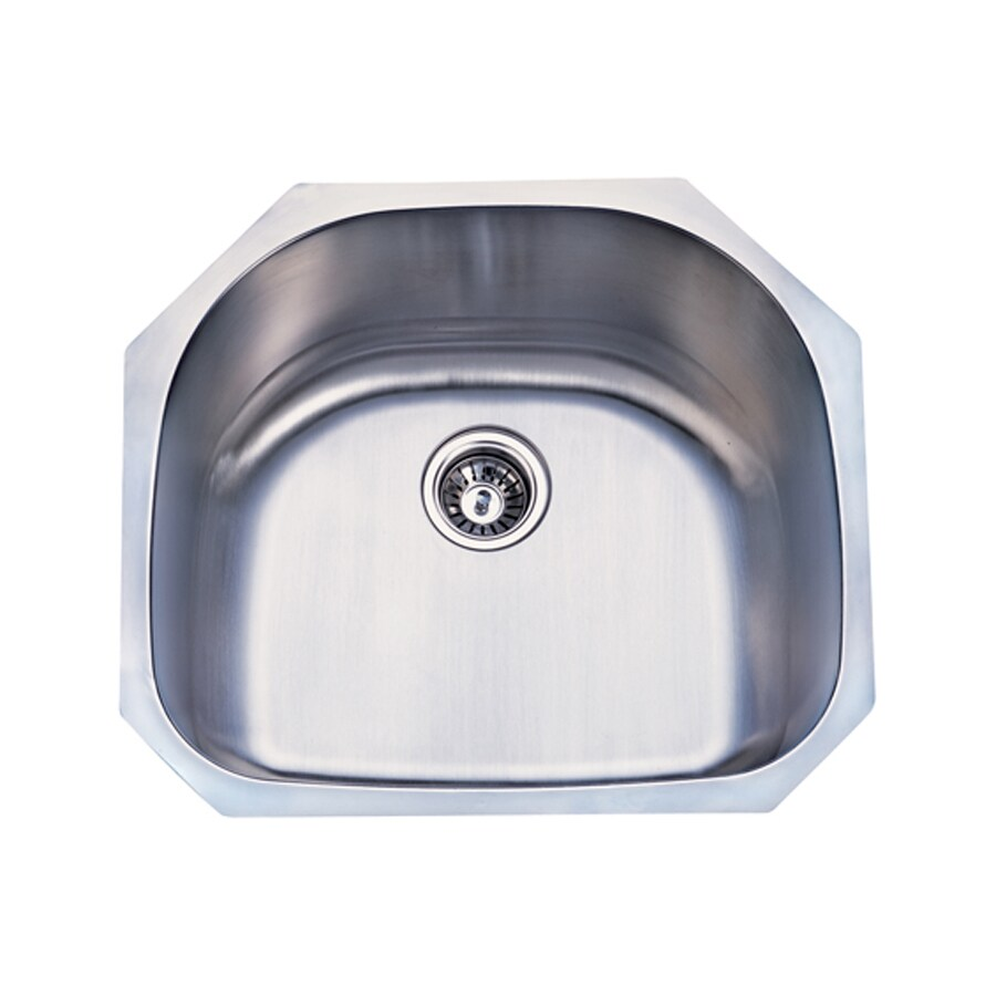 Elements of Design Centurion 21.06-in x 23.19-in Brushed Nickel Single-Basin Stainless Steel Undermount Kitchen Sink